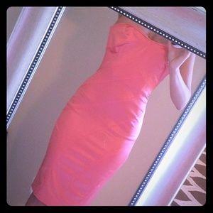 Bebe peach cocktail dress